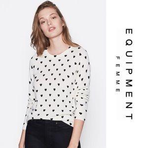 Equipment • Cashmere Heart Sweater • NWT